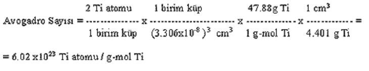Avogadro Sayısı Hesaplama