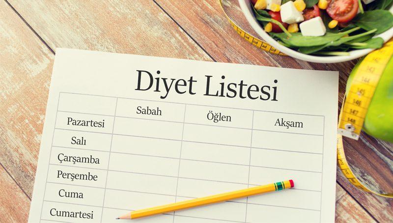 Photo of Bir Haftada 5 Kilo Verdiren Diyet