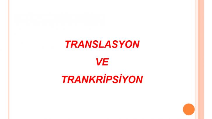 Transkripsiyon Translasyon [PDF]