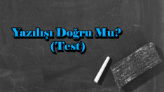 Yazılışı Doğru Mu? (Test)