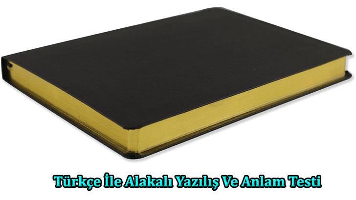 Türkçe İle Alakalı Yazılış Ve Anlam Testi