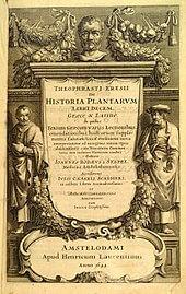 M.Ö. 300'de yazılmış olan Historia Plantarum